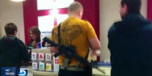 Utah shopper carrying an AR-15 in a local mall