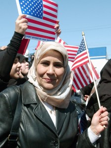 IRAQI-AMERICAN MUSLIMS CELEBRATE IN DEARBORN OUSTER OF HUSSEIN
