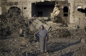 Gaza after an Israeli strike on July 8, 2014