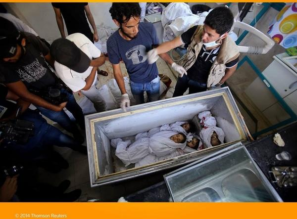 Infants, children killed in Rafah stored in a commercial freezer until a ceasefire so that they can be buried