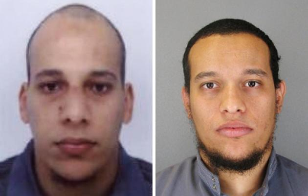 Cherif Kouachi , on the left and his brother Said