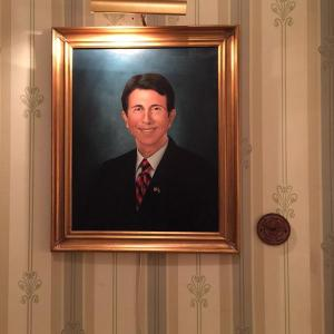 This is the governor's official portrait and hangs in the state capital