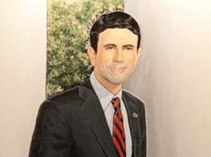 This portrait was drawn by an unnamed supporter of Jindal