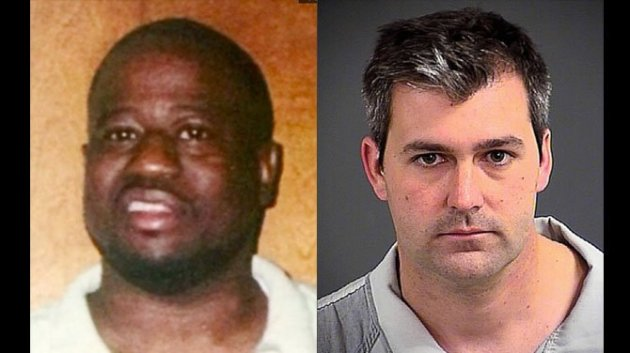 Walter Scott on the left, Michael Slager on the right