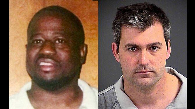 Walter Scott on the left, Michael Slager on the right