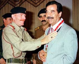 Saddam Husseing and Izzat Ibrahim al-Douri