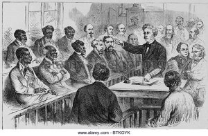 A racially integrated jury in the South in the 19th century